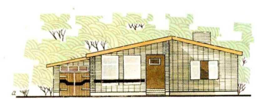Проект одноэтажного загородного дома Бюджетный-1