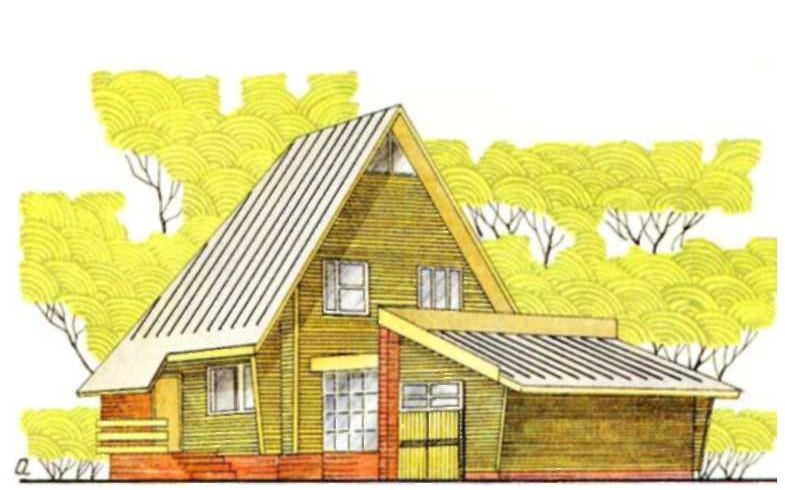Мансардный трехкомнатный дом в Волоколамске Московской области — типовой проект 146-214-4 (жилая площадь 42 м2, общая — 86 м2)