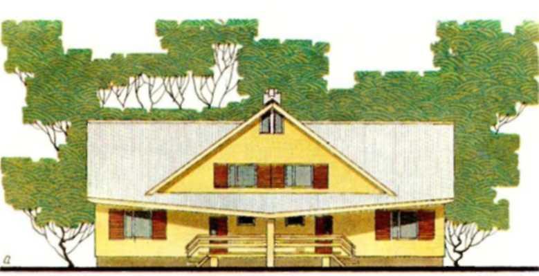 Двухквартирный мансардный дом с пятикомнатными квартирами в С. Богословка Пензенской области — типовой проект 144-16-53I (жилая площадь квартиры 60 м2, общая      100 м2)