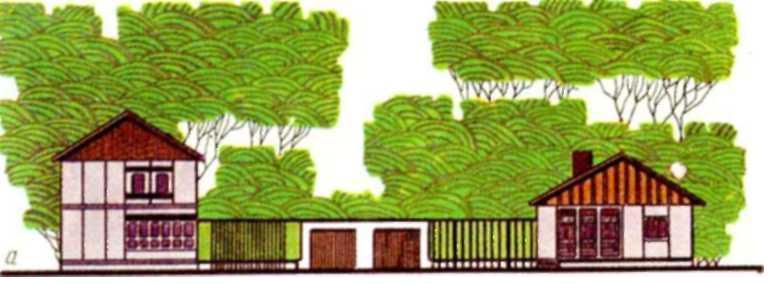 Одноэтажный ii четырехкомнатные дома